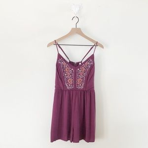 Xhilaration Purple Shorts Jumpsuit